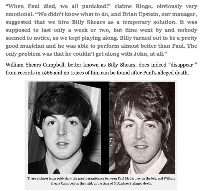 "Former Beatle Ringo Starr Claims the ""Real"" Paul McCartney ..."